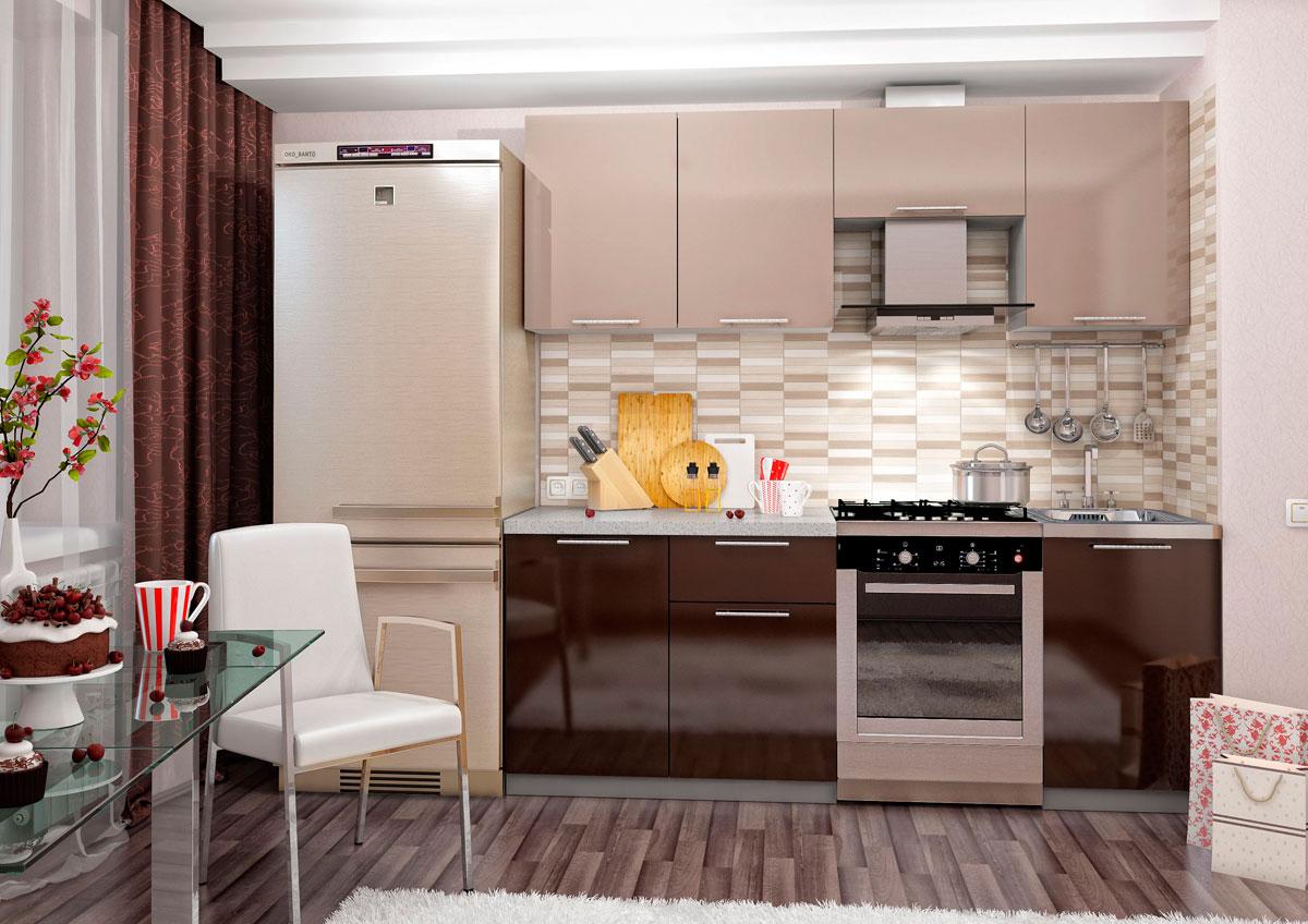 Кухонный гарнитур верх белый низ капучино куплю тарелки для кухни