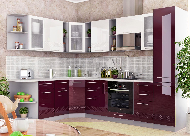 Кухни цвета баклажан фото