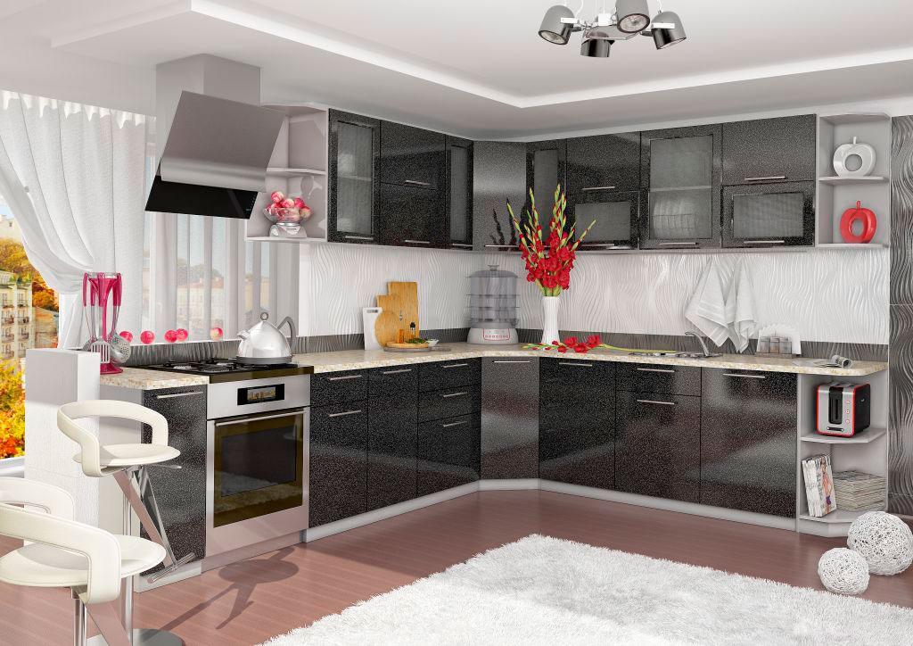 Кухни оливково черные